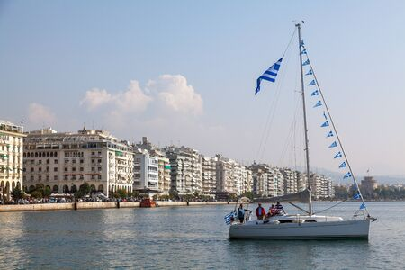 THESSALONIKI, GREECE - OCT 26: Participation of sailboats in the context of the celebrations for the centenary of the liberation of the city on Oct 26, 2012 in Thessaloniki, Greece Stock Photo - 17146452