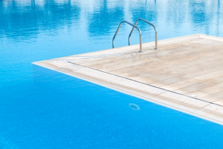Swimming pool of luxury hotel in Alexandroupoli - Greece Editorial
