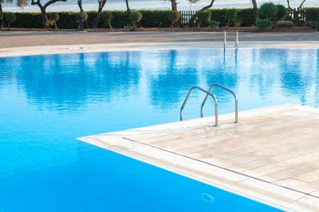 Swimming pool of luxury hotel in Alexandroupoli - Greece Stock Photo - 17176009