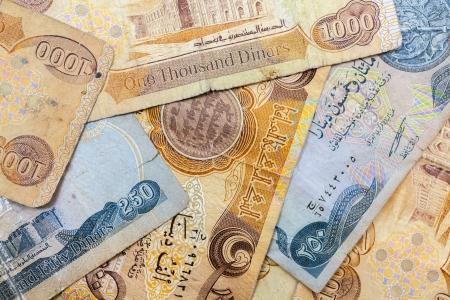 iraqi: Close up of iraqi dinar notes