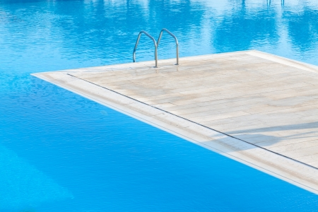 Swimming pool of luxury hotel in Alexandroupoli - Greece Stock Photo