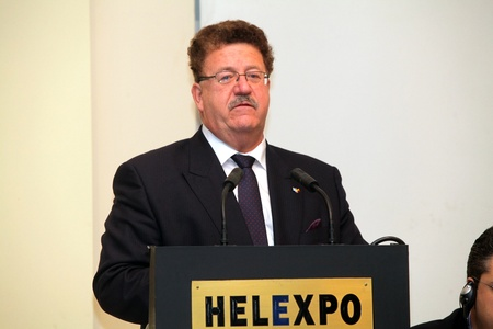 noe: THESSALONIKI,GREECE-NOE 4:3rd Greek-German Meeting under the presence of German vice Minister of Labour Mr.Hans Joachim Fuchtel,representative of German Chancellor on Noe 4,2011 in Thessaloniki,Greece