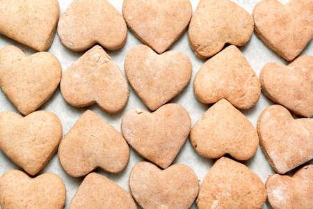 heartshaped: Heart-shaped cookies Stock Photo
