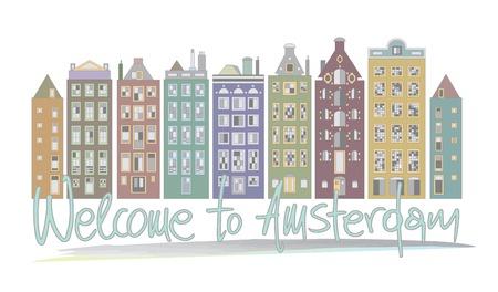 moon  metropolis: Welcome to Amsterdam. Vector illustration Eps 10 Illustration