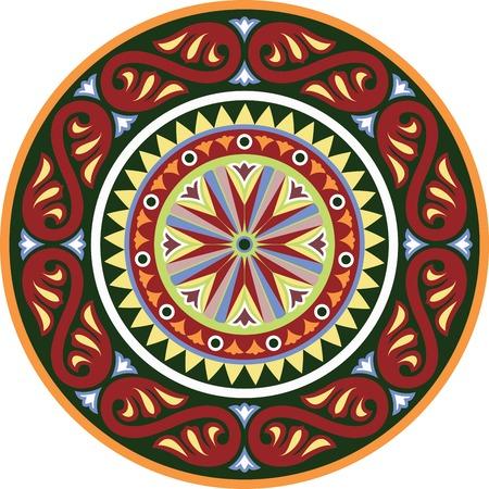 byzantine: Byzantine decorative rosette. Vector illustration Eps 10 Illustration