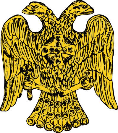 double headed: Byzantine double headed eagle. Vector illustration Eps 10