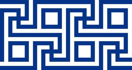 friso: Motivo del griego cl�sico. Ilustraci�n vectorial Eps 10