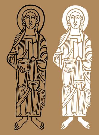 patron: Saint figures. Vector illustration Eps 10 Illustration
