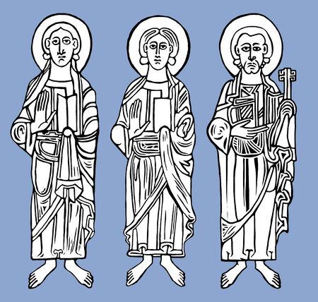 Saint figures. Vector illustration Eps 10 Illustration