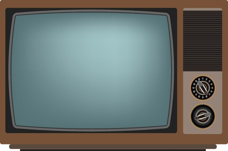 Old TV screen. Vector illustration Eps 10 Illustration