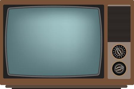 Old TV screen. Vector illustration Eps 10 Stock Illustratie