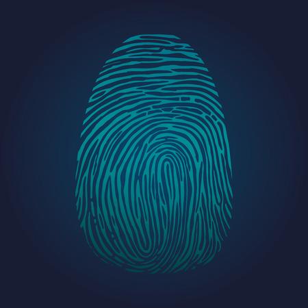 somebody: Fingerprints on blue. Vector Illustrator eps 10.