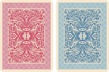 Playing Card Back Designs. Vector Illustrator eps 10. Stock Photo