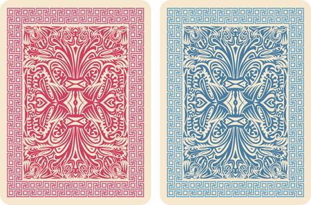 hold em: Playing Card Back Designs. Vector Illustrator eps 10. Stock Photo