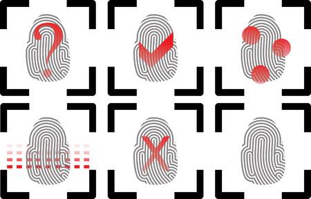Fingerprint icons. Vector Illustrator eps 10.