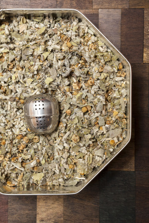 tea infuser: Tea Infuser & Mountain Tea Leaves in a Box