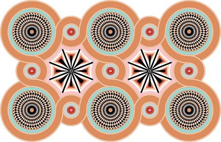 Byzantine Decorative rosettes. Vector illustration eps 10 Illustration