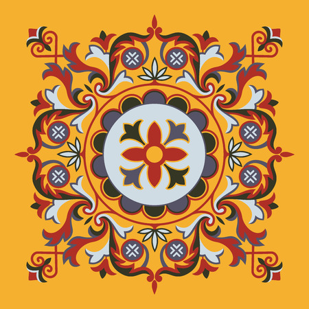 Painting on second floor ceiling at Hagia Sophia church, Istanbul, Turkey. Vector illustration Eps 10 Illustration