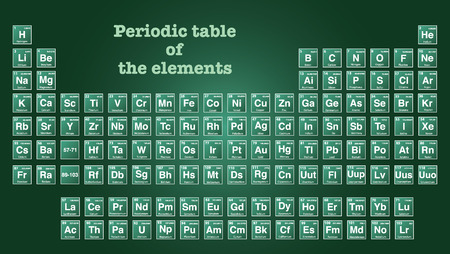 Periodic table of the elements with atomic number, symbol and weight. Vector Illustrator eps 10. Illustration