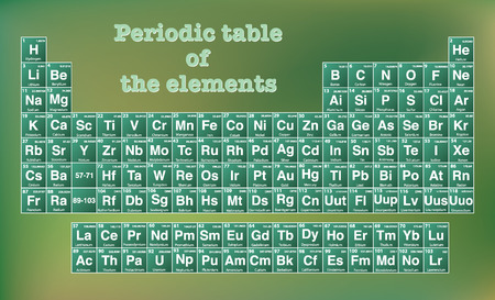 atomic number: Periodic table of the elements with atomic number, symbol and weight. Vector Illustrator eps 10. Illustration