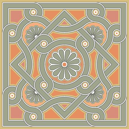 Byzantine design in church floor