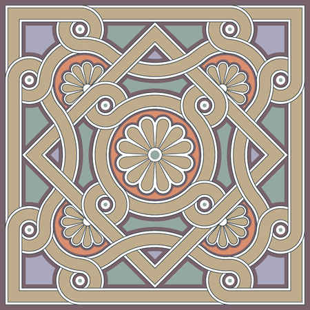 教会の床にビザンチンのデザイン