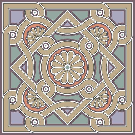 byzantine: Byzantine design in church floor