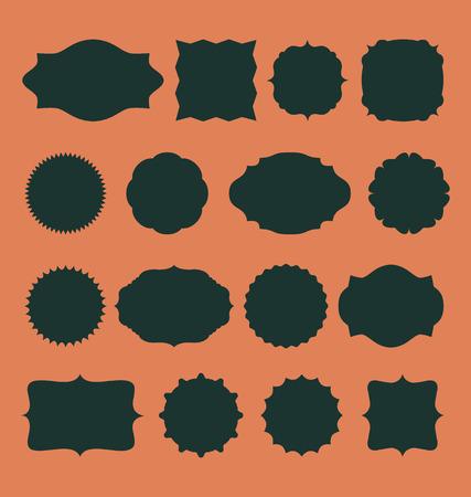 Blank frame and label set. Vector illustration with design elements. Vector