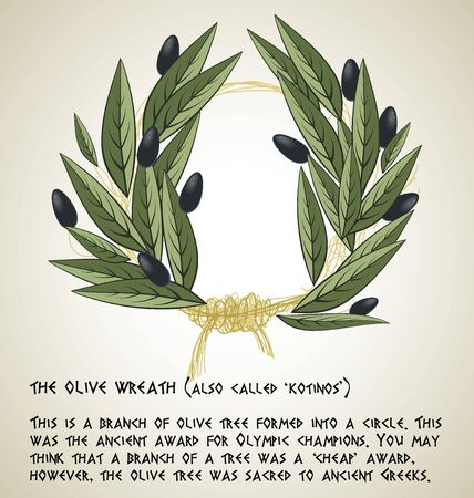 olive wreath: The Olive Wreath Aslo Called kotinos