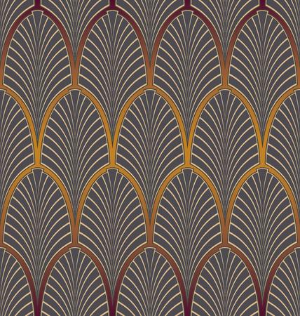 seamless pattern: Seamless Art Nouveau pattern Illustration