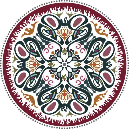 Art nouveau decorative floral pattern motif Illustration