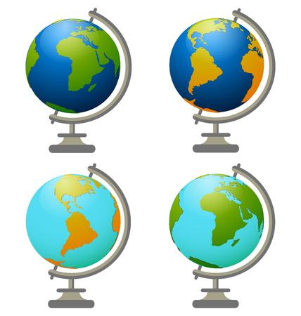 10eps: School globe, vector