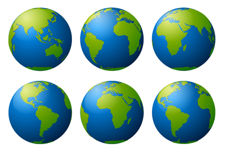 Globe earth vector icons Stock Vector - 48862261