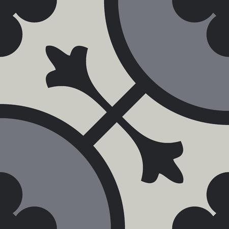 Encaustic tiles seamless pattern EPS 10 Vettoriali