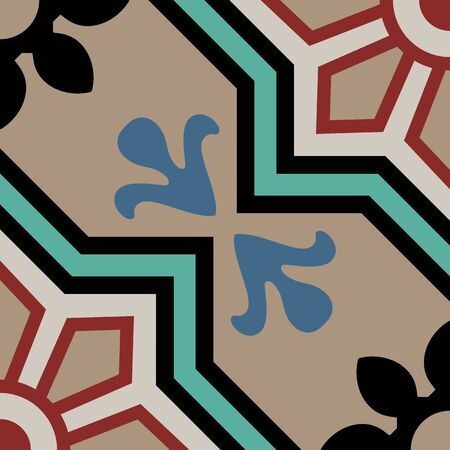 Encaustic tiles seamless pattern EPS 10 Vector Illustration