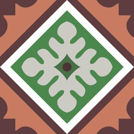 encaustic: Encaustic tiles seamless pattern EPS 10 Illustration
