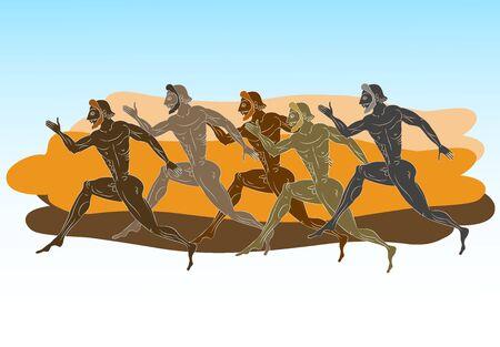 sportsmen: Ancient Greek figures - Sportsmen runners