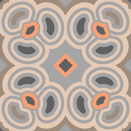 Encaustic tiles seamless pattern. Vector Illustration