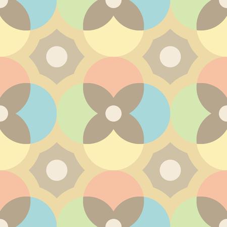 Encaustic tiles seamless pattern.