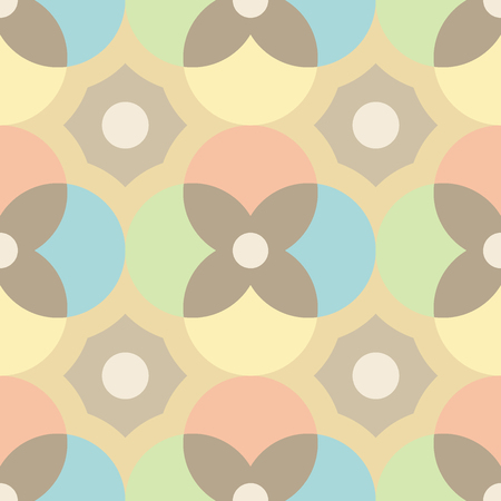 Tuiles Encaustique seamless pattern.