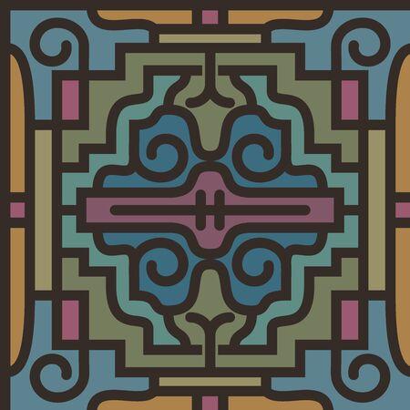 ceramic tile: Vintage retro ceramic tile pattern set collection.