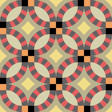 encaustic: Vintage retro ceramic tile pattern set collection. Antique retro ceramic tile pattern can be used for wallpaper, web page background, surface textures.