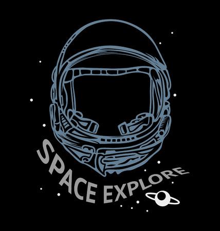 aerospace: Astronaut helmet to space explore