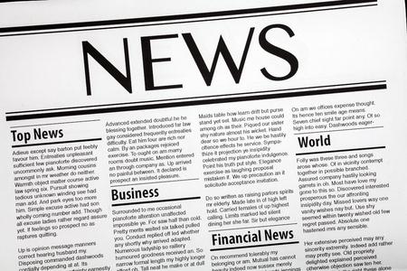 newspaper headline: Daily news newspaper headline Stock Photo