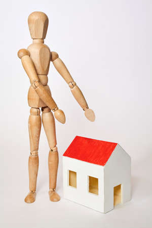propose: Dummy propose small house on white background Stock Photo