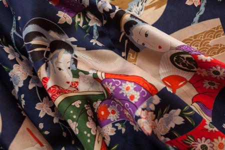 Decorative kimono floral motif Stock Photo