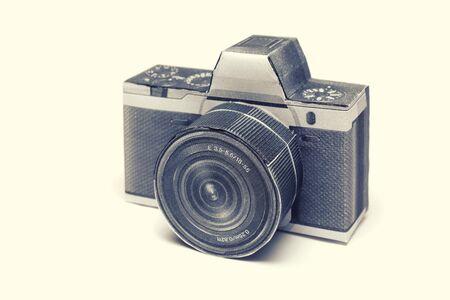 dslr: Dslr old camera made of paper