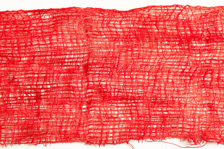 bleed: Gauze with blood on white background