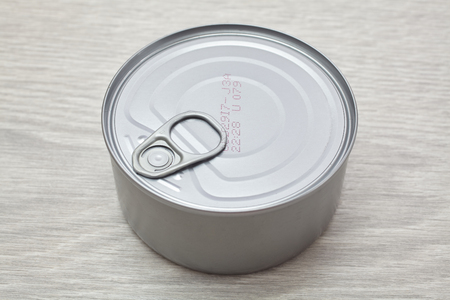 Single metal food can. Side view Stock Photo - 60948479