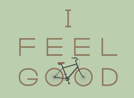 Ich fühle mich gut mit dem Fahrrad
